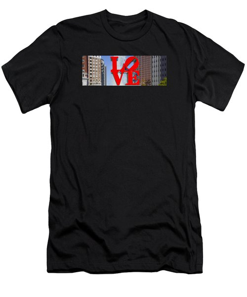 Men's T-Shirt (Athletic Fit) featuring the photograph Love In Philadelphia Pa by Bill Cannon