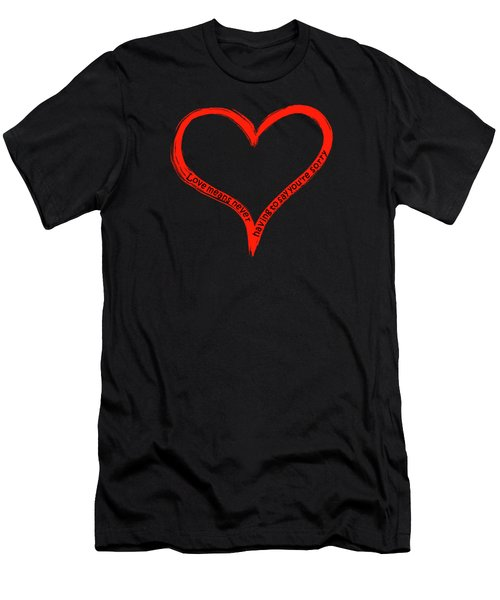 Love Means Never Having To Say Youre Sorry Men's T-Shirt (Athletic Fit)