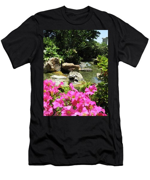 Men's T-Shirt (Slim Fit) featuring the photograph Love On The Rocks- Los Angeles- Pandas by Ausra Huntington nee Paulauskaite
