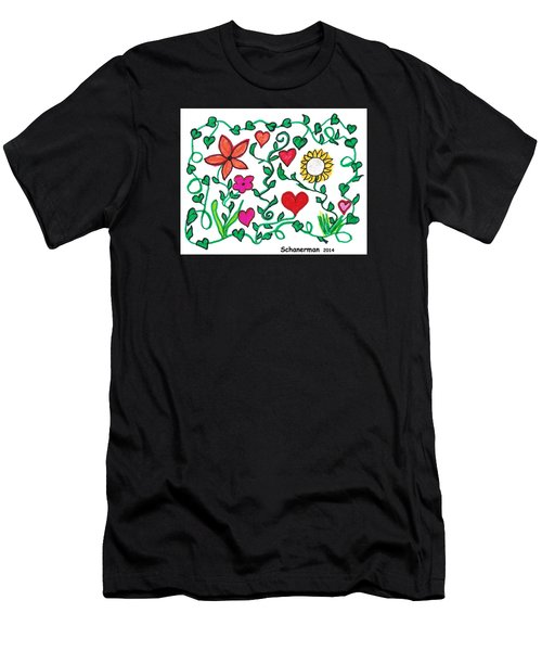 Love On The Vine Men's T-Shirt (Athletic Fit)