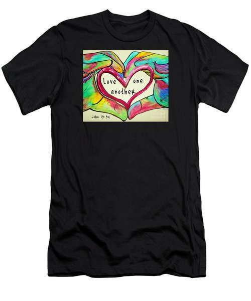 Love One Another John 13 34 Men's T-Shirt (Athletic Fit)
