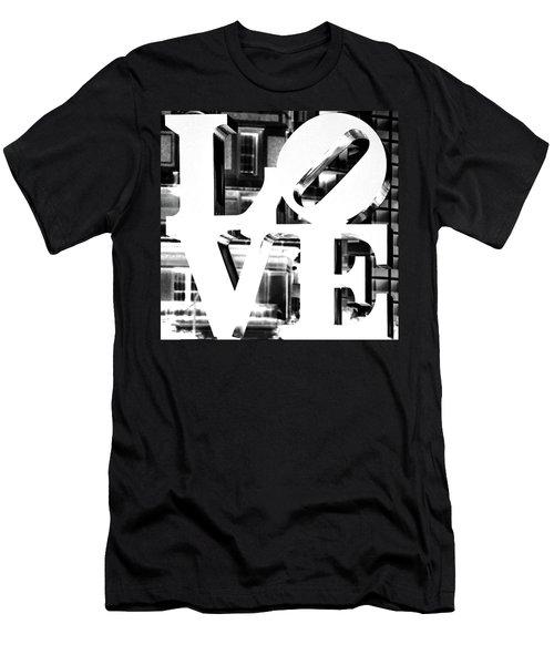 Love Philadelphia White  Men's T-Shirt (Athletic Fit)