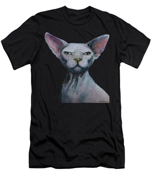 Love Sphynx Cat Men's T-Shirt (Athletic Fit)