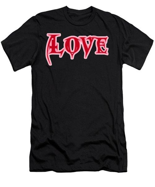 Love Text Men's T-Shirt (Athletic Fit)