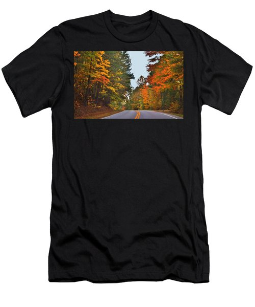 Lovely Autumn Trees Men's T-Shirt (Athletic Fit)
