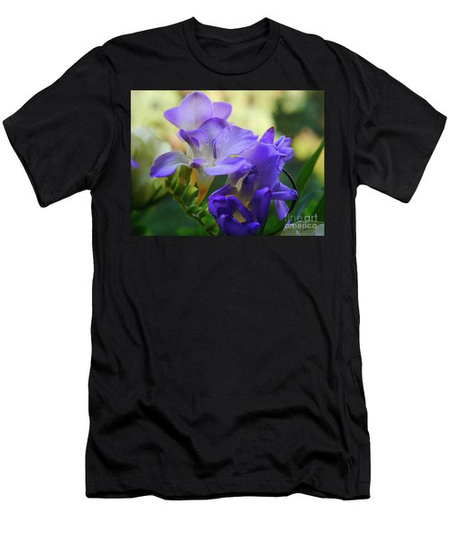 Men's T-Shirt (Athletic Fit) featuring the photograph Lovely Freesia's by Lance Sheridan-Peel