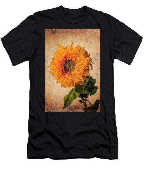 Lovely Textured Sunflower Men's T-Shirt (Athletic Fit)