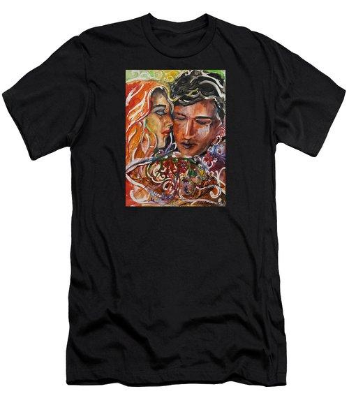Lovers Men's T-Shirt (Slim Fit) by Rita Fetisov