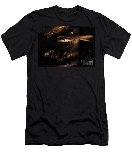 Loving Rosa Men's T-Shirt (Slim Fit) by Linda Shafer