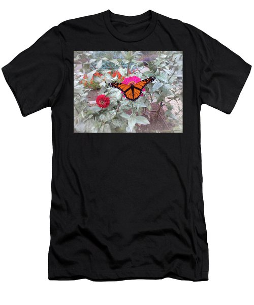 Loving The Zinnias Men's T-Shirt (Athletic Fit)