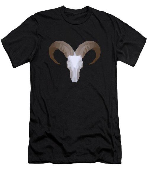Low Poly Aoudad Men's T-Shirt (Athletic Fit)