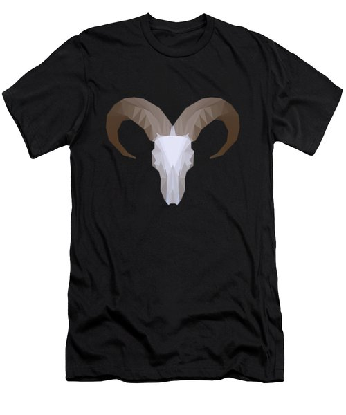 Low Poly Aoudad Men's T-Shirt (Athletic Fit)