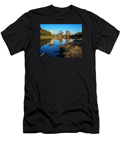Men's T-Shirt (Slim Fit) featuring the photograph Low Water  by Alan Raasch