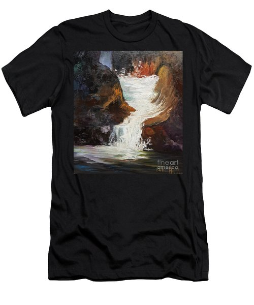 Lower Chasm Waterfall Men's T-Shirt (Athletic Fit)