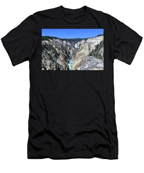 Lower Falls From Artist Point Men's T-Shirt (Athletic Fit)