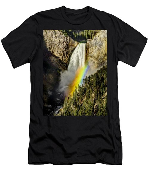 Lower Falls- Yellowstone Park Men's T-Shirt (Athletic Fit)