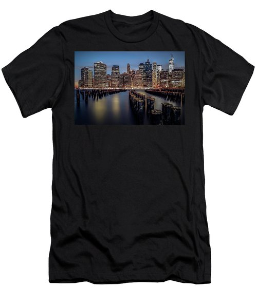 Lower Manhattan Skyline Men's T-Shirt (Athletic Fit)