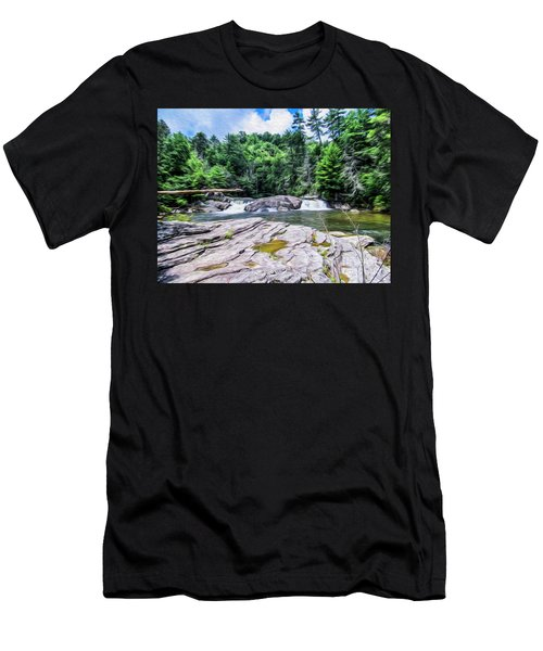 Lower Waterfall View Men's T-Shirt (Athletic Fit)