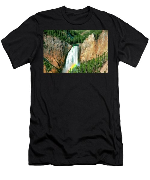 Men's T-Shirt (Athletic Fit) featuring the photograph Lower Yellowstone Falls by Todd Klassy