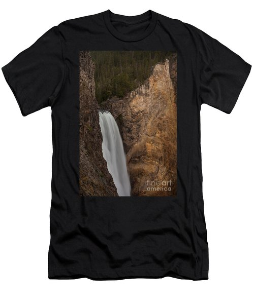 Lower Yellowstone Waterall Men's T-Shirt (Athletic Fit)