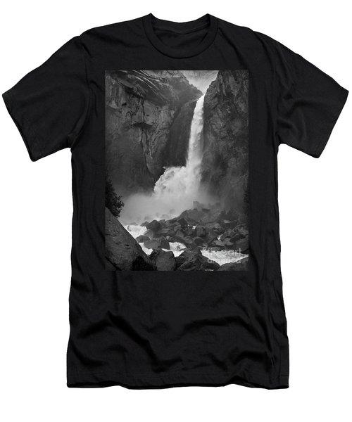Men's T-Shirt (Slim Fit) featuring the photograph Lower Yosemite Falls by Martin Konopacki