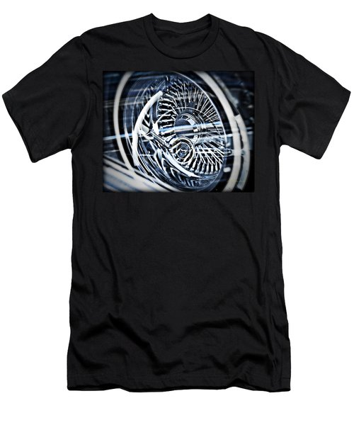 Lowrider Wheel Illusions 1 Men's T-Shirt (Slim Fit) by Walter Herrit