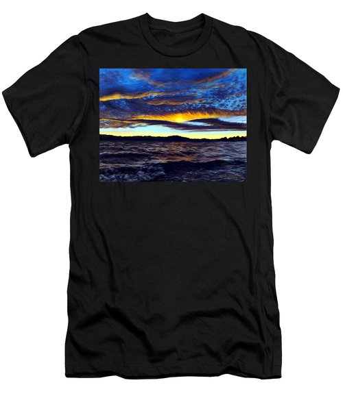Lucerne Sunset Men's T-Shirt (Athletic Fit)