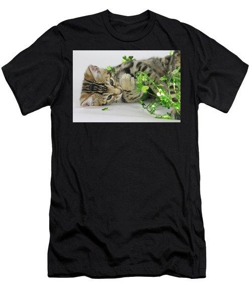 Lucky Kitten Men's T-Shirt (Athletic Fit)