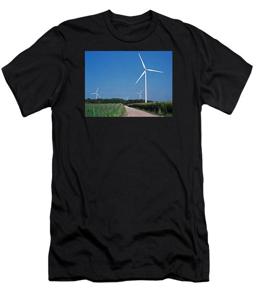 Ludington Wind Farm Men's T-Shirt (Athletic Fit)