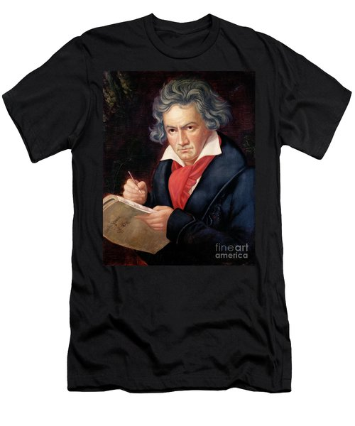 Ludwig Van Beethoven Composing His Missa Solemnis Men's T-Shirt (Athletic Fit)