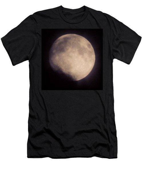 #luna #moon #satellite #dark #night Men's T-Shirt (Athletic Fit)