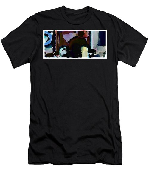 Men's T-Shirt (Slim Fit) featuring the painting Lunch Counter by Steve Karol