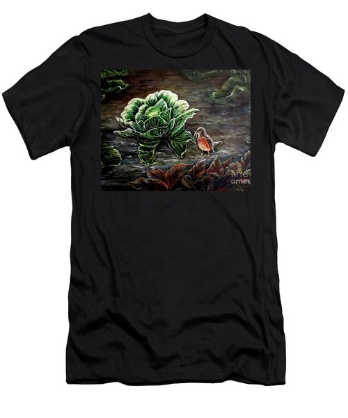 Lunch In The Garden Men's T-Shirt (Athletic Fit)