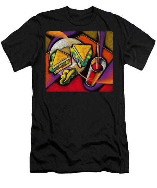 Lunch Men's T-Shirt (Slim Fit) by Leon Zernitsky