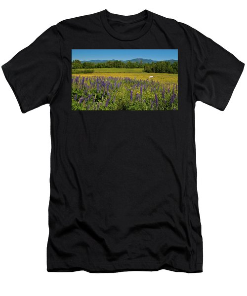 Men's T-Shirt (Athletic Fit) featuring the photograph Lupine Festival by Brenda Jacobs