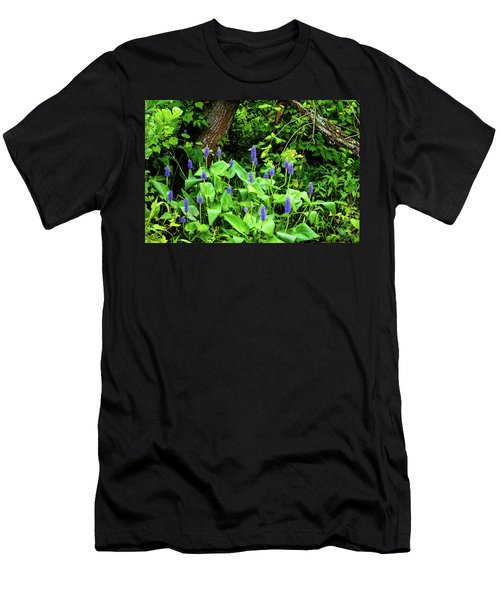 Lush Purple Flowers In The Woods Men's T-Shirt (Athletic Fit)