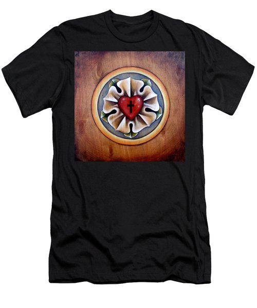 Luther's Rose - Natural Men's T-Shirt (Athletic Fit)