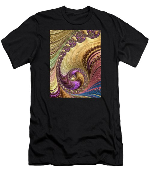 Luxe Colorful Fractal Spiral Men's T-Shirt (Athletic Fit)