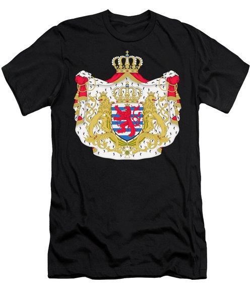 Luxembourg Coat Of Arms Men's T-Shirt (Athletic Fit)