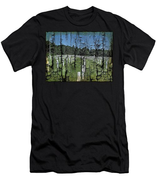 Luxembourg Wwii Memorial Cemetery Men's T-Shirt (Slim Fit) by Joseph Hendrix