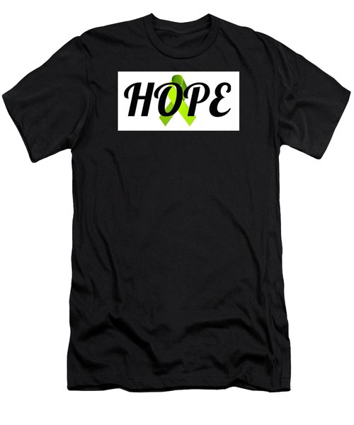 Lyme Awareness Ribbon Of Hope Men's T-Shirt (Slim Fit) by Laura Michelle Corbin