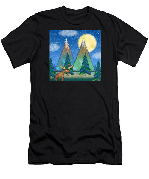 M Is For Mountains And Moon Men's T-Shirt (Athletic Fit)