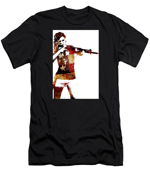M1 Carbine And Bayonet Men's T-Shirt (Athletic Fit)