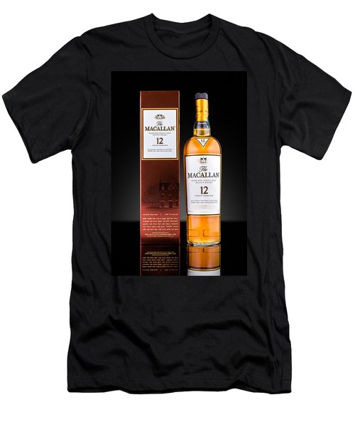 Macallan Single Malt Whisky Men's T-Shirt (Slim Fit) by Mihai Andritoiu