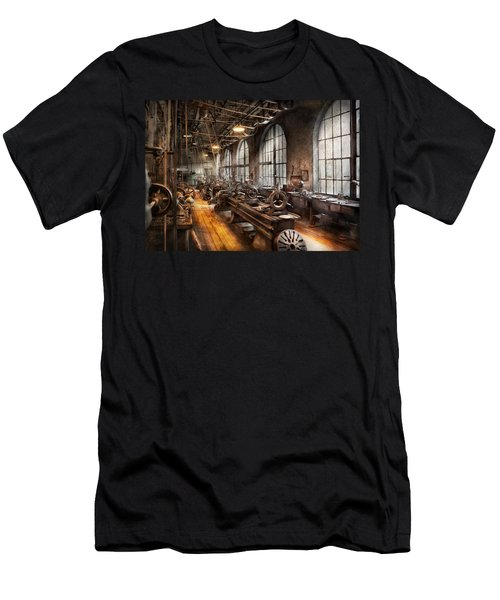 Machinist - A Room Full Of Lathes  Men's T-Shirt (Athletic Fit)