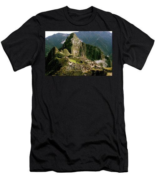 Machu Picchu At Sunrise Men's T-Shirt (Athletic Fit)