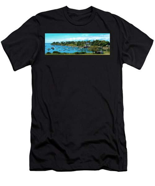 Mackerel Cove On Bailey Island Men's T-Shirt (Athletic Fit)