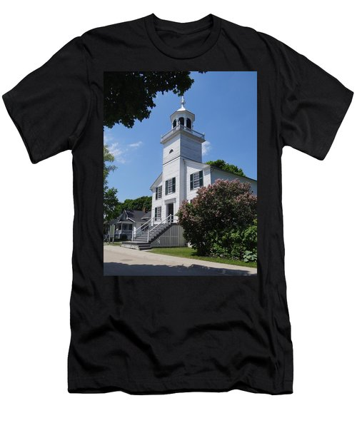 Mackinac Island Mission Church Men's T-Shirt (Athletic Fit)