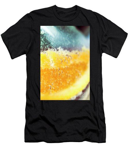 Macro Detail On A Club Orange Cocktail Men's T-Shirt (Athletic Fit)