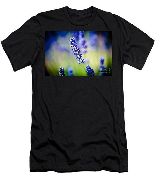 Macro Lavander Flowers In Lavender Field Artmif Men's T-Shirt (Athletic Fit)